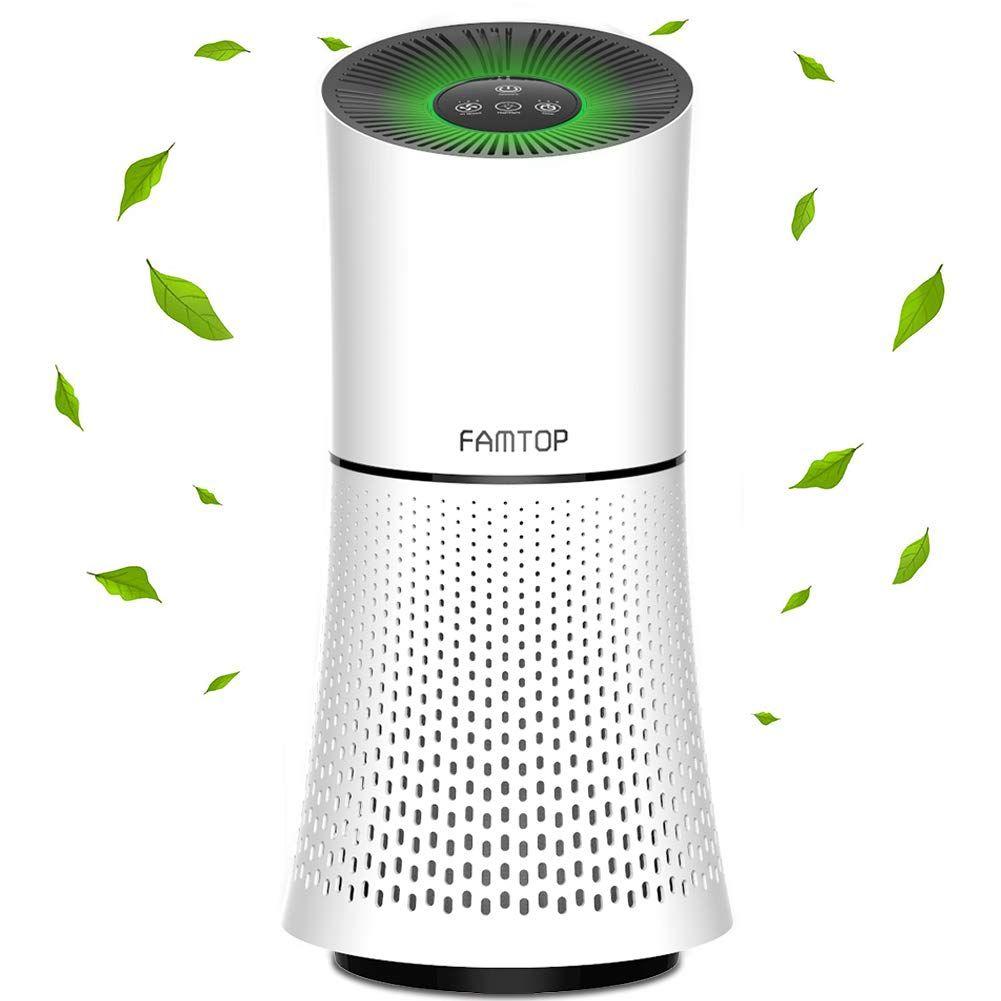 Famtop – Purificatore d'aria per la casa, filtro HEPA 4 in 1