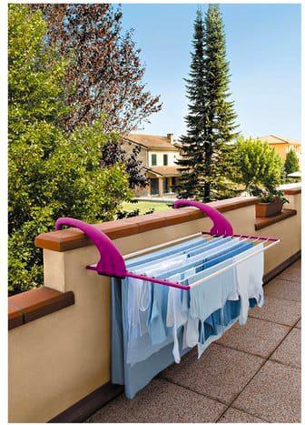 Meliconi Stendibiancheria da balcone Lock Balcony Alluminio 105x56