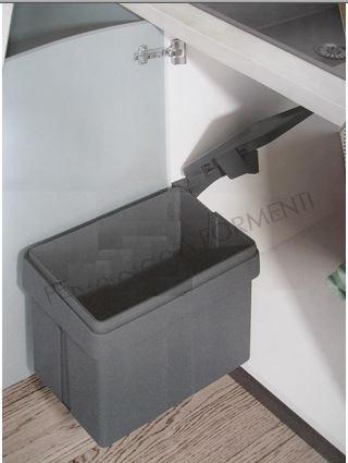 Pattumiera automatica sottolavello cucina 15 litri , si apre