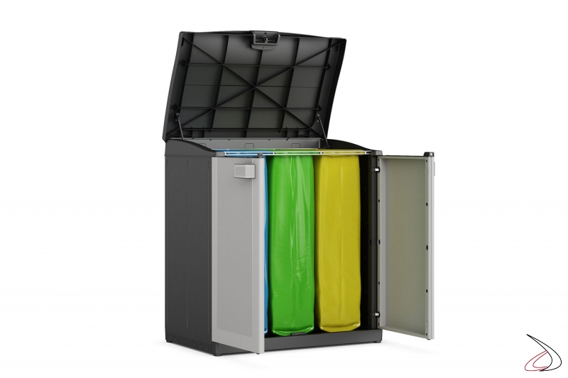 Pattumiera per raccolta rifiuti Recycling   TopArredi