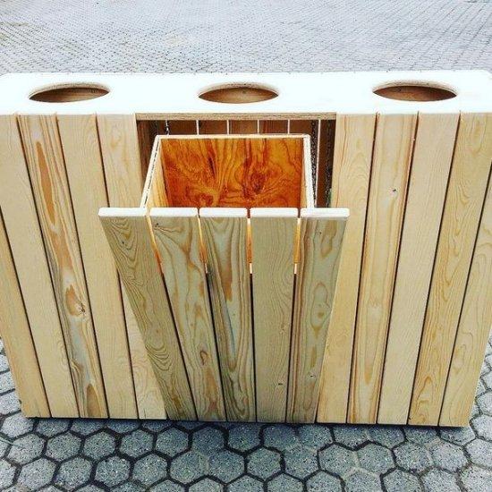 Progetto per costruire pattumiera per riciclo da esterno