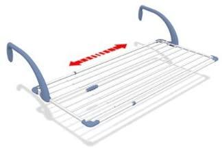 Stendibiancheria da balcone estensibile da 110 a 190 cm: