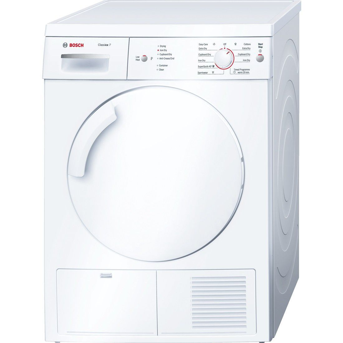 Commercial dryer - WTE84106GB - BOSCH - free-standing