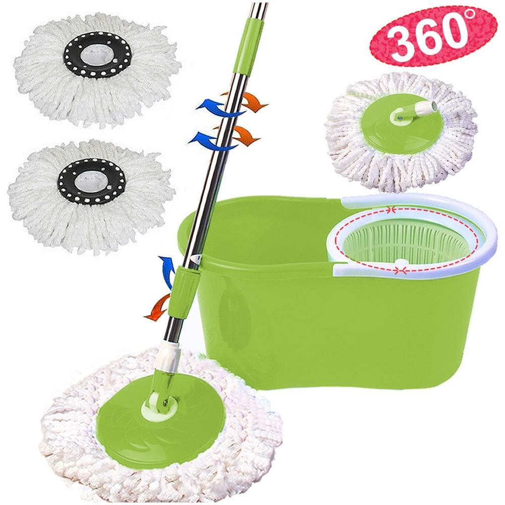 Trade Shop - Rotating Mop Roto Mop Mocio Rotante In Microfibra Con