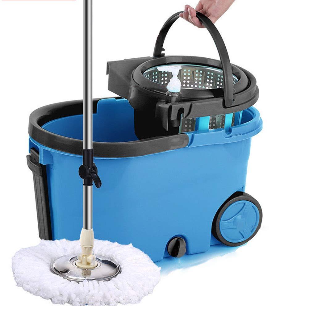 VIVIAN YANG Mocio Rotante Lavapavimenti Set,Spin Mop con Filtro e