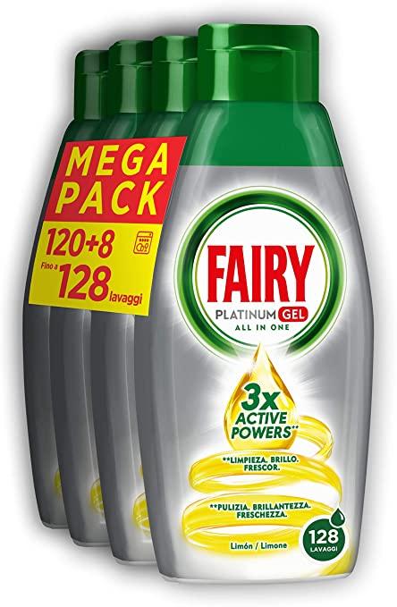 Fairy Platinum Gel Detersivo per Lavastoviglie, Limone, 30 + 2