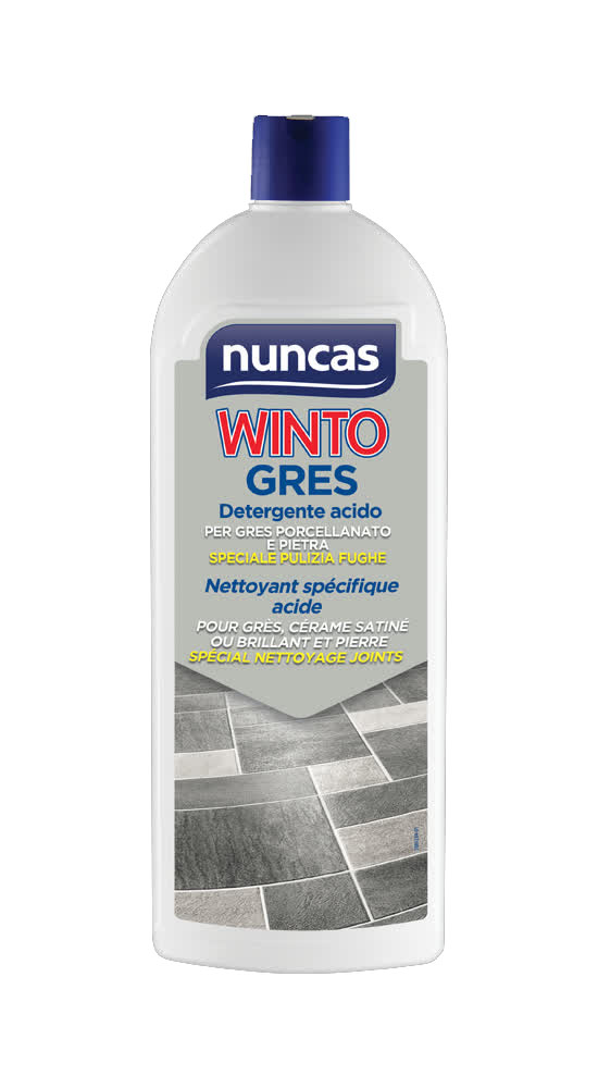Winto Gres è un detergente per gres porcellanato di pavimenti e