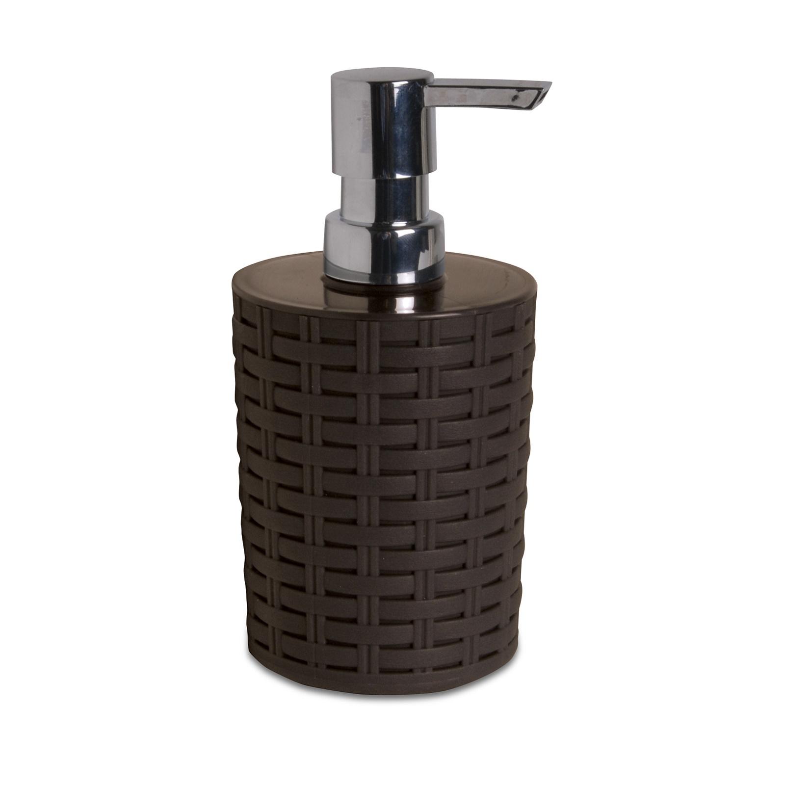 Dispenser per sapone liquido da appoggio in PP effetto rattan