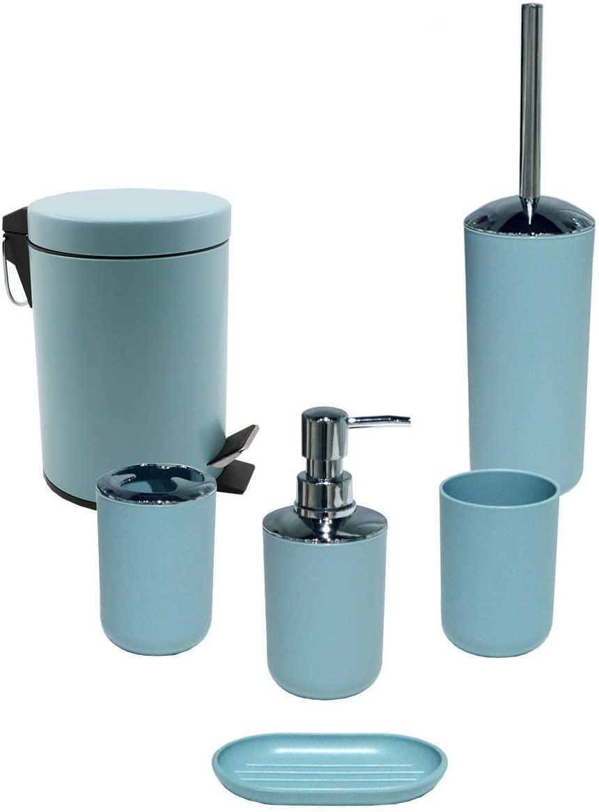 dispenser per sapone portasapone cestino spazzatura tazza per