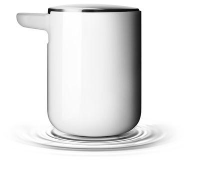 Scopri Dosatore di sapone liquido, Bianco – Coperchio inox